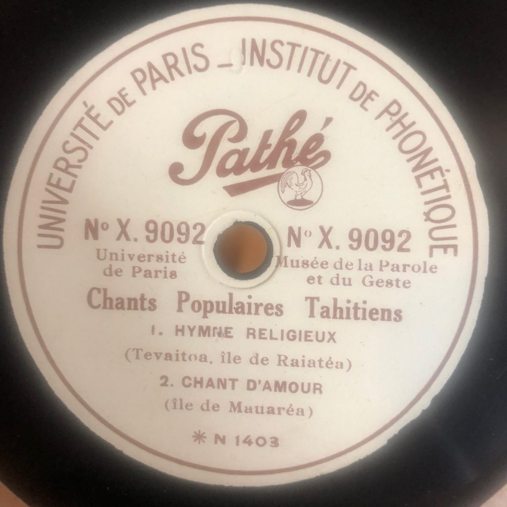 CHANT D'AMOUR - CHANTS POPULAIRES TAHITIENS