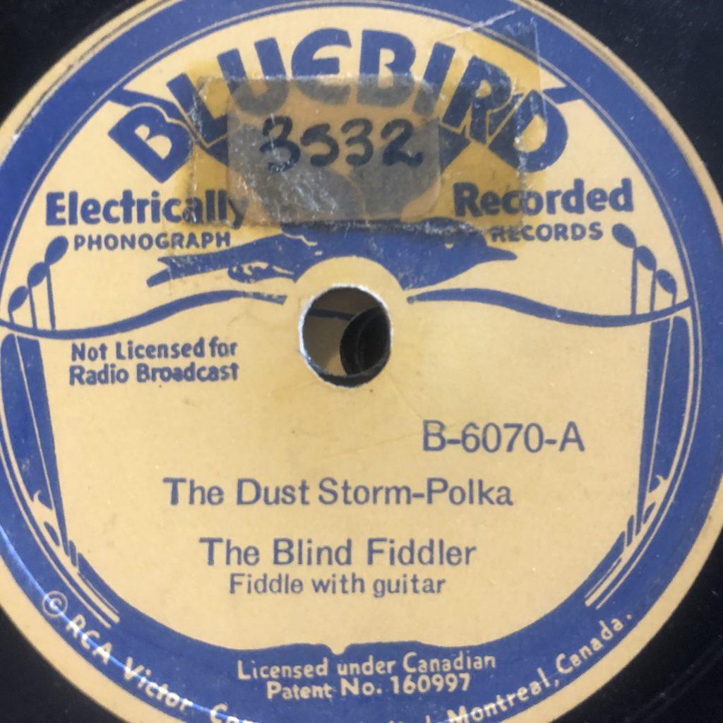 El Ciego Melquíades Rodriquez the blind fiddler bluebird 6070