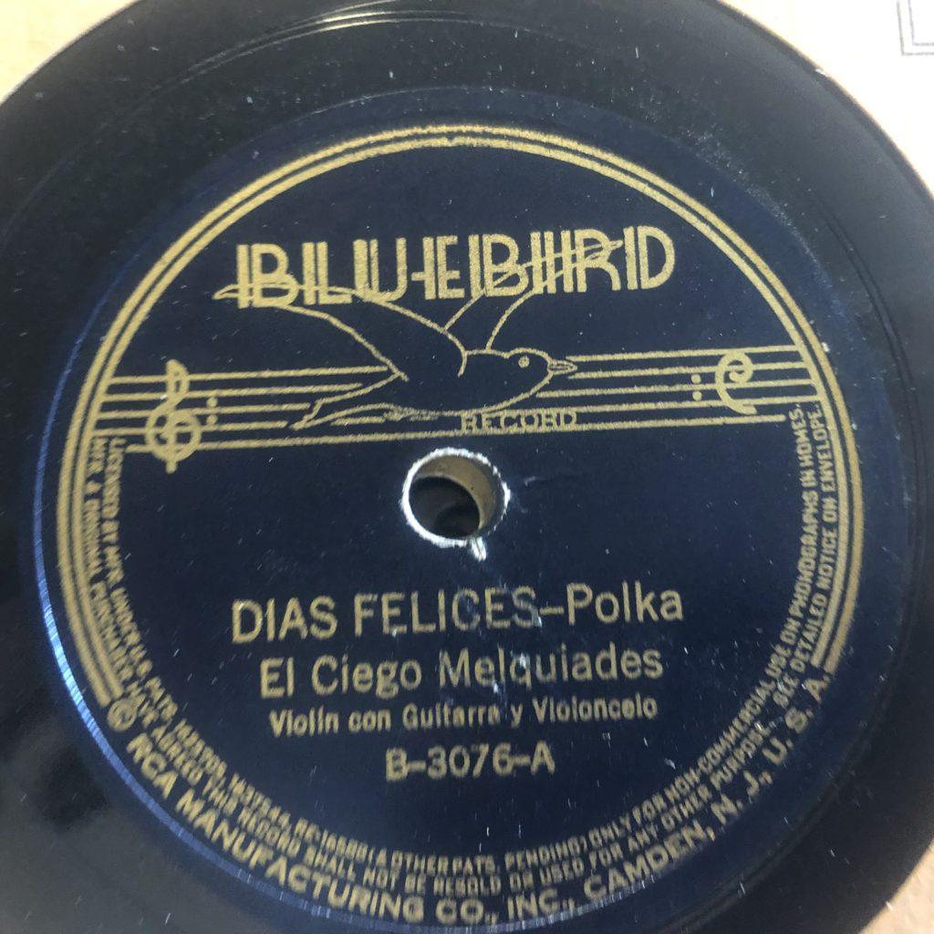 El Ciego Melquíades Rodriquez the blind fiddler bluebird 3076