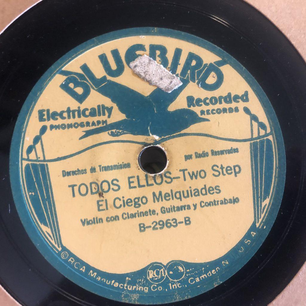 El Ciego Melquíades Rodriquez the blind fiddler bluebird 2963