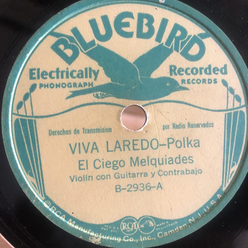 El Ciego Melquíades Rodriquez the blind fiddler bluebird 2936