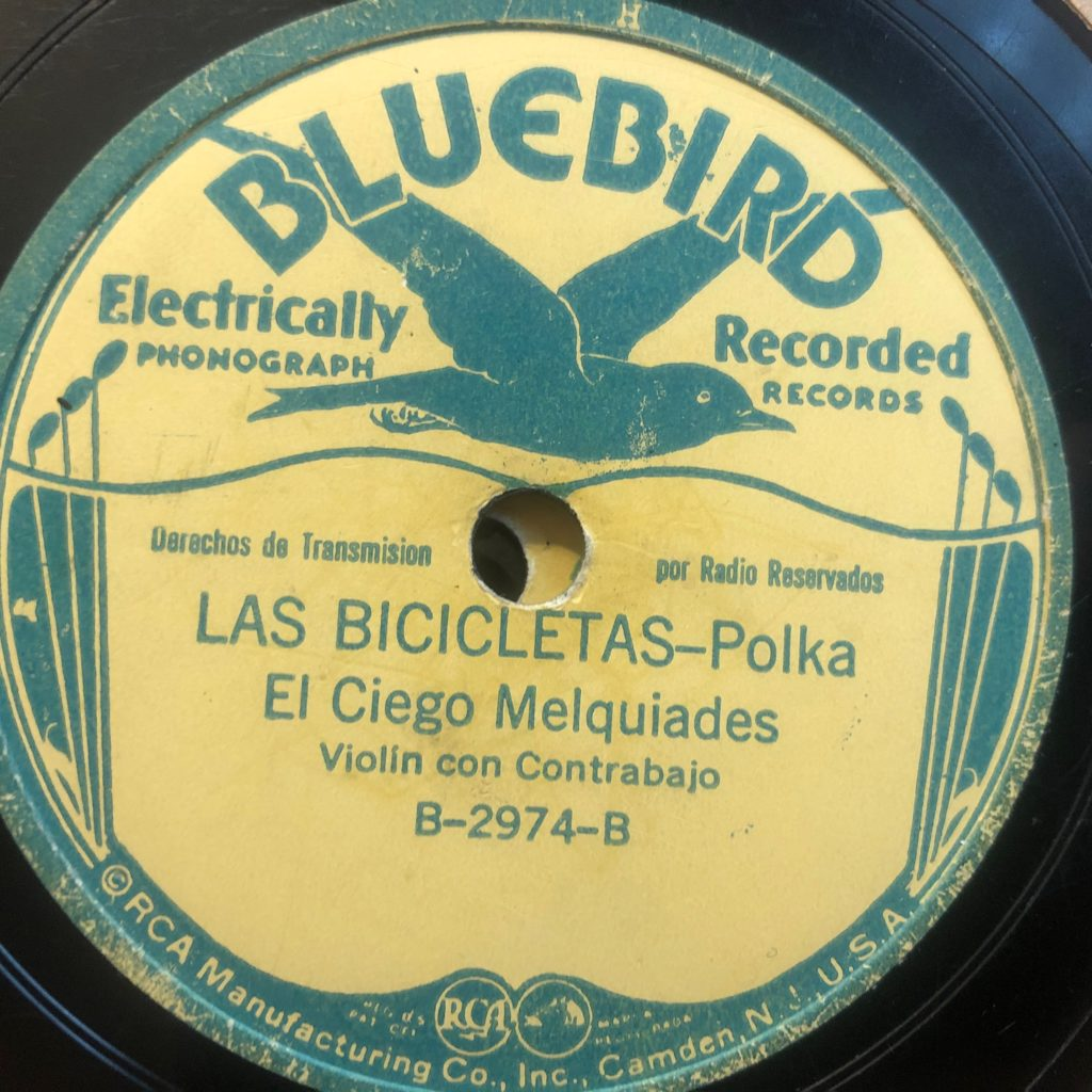 El Ciego Melquíades Rodriquez the blind fiddler bluebird 2974