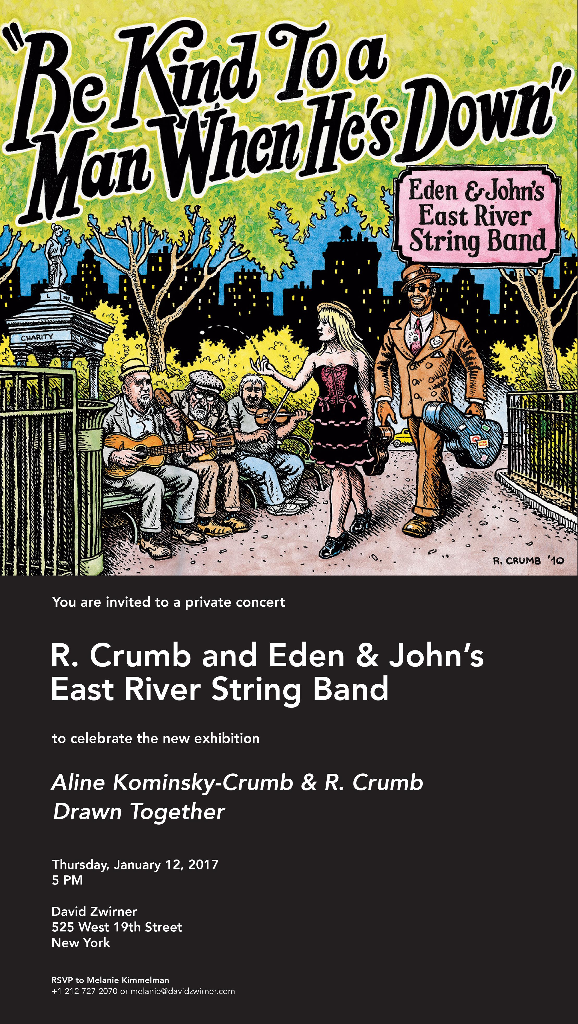 r. crumb eden brower john henghan east river string band