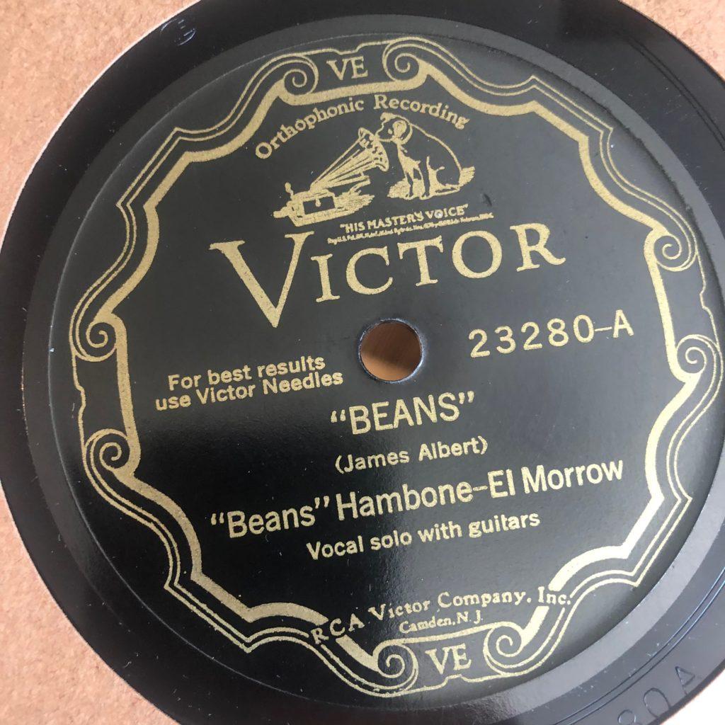 BEANS HAMBONE EL MORRO VICTOR 23280 BLUES 78 RPM