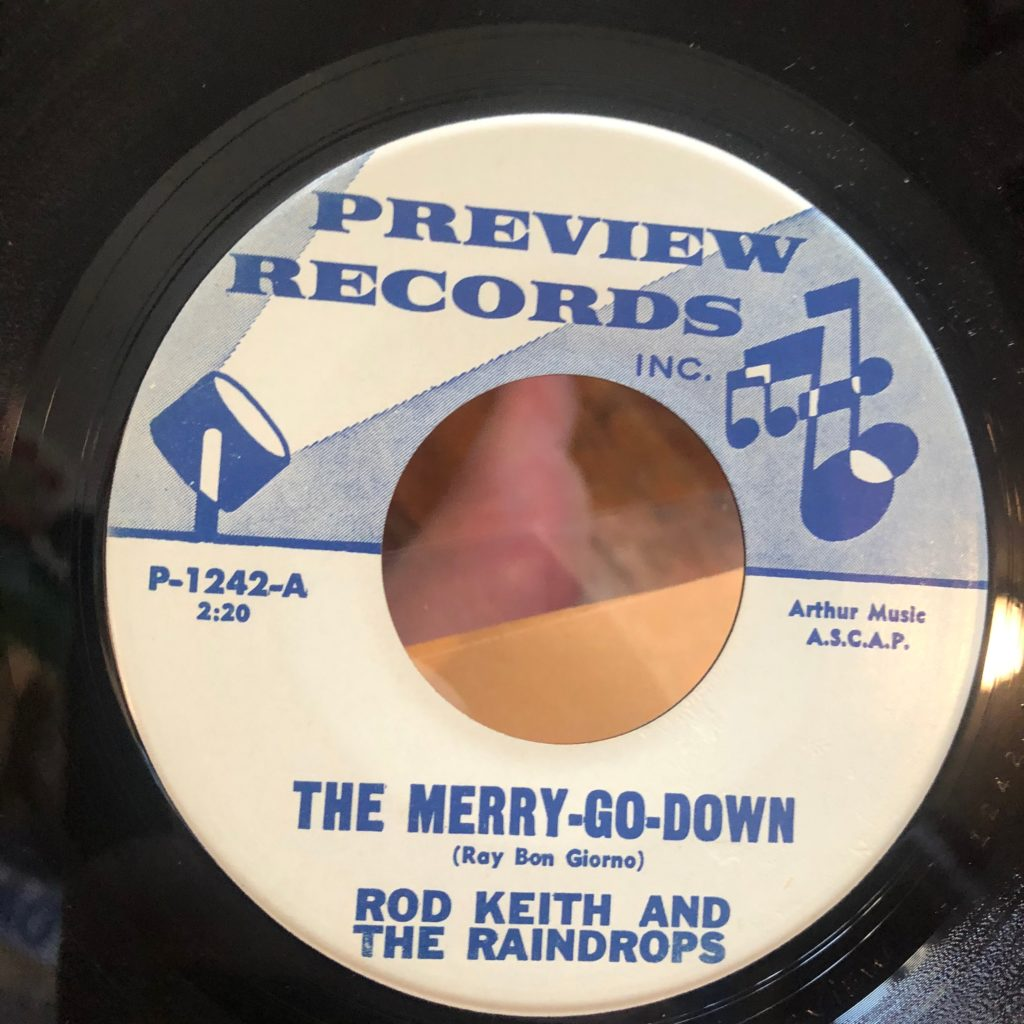 preview 1242 rod keith and the raindrops rodd keith the merry-go-down 45 rpm song-poem