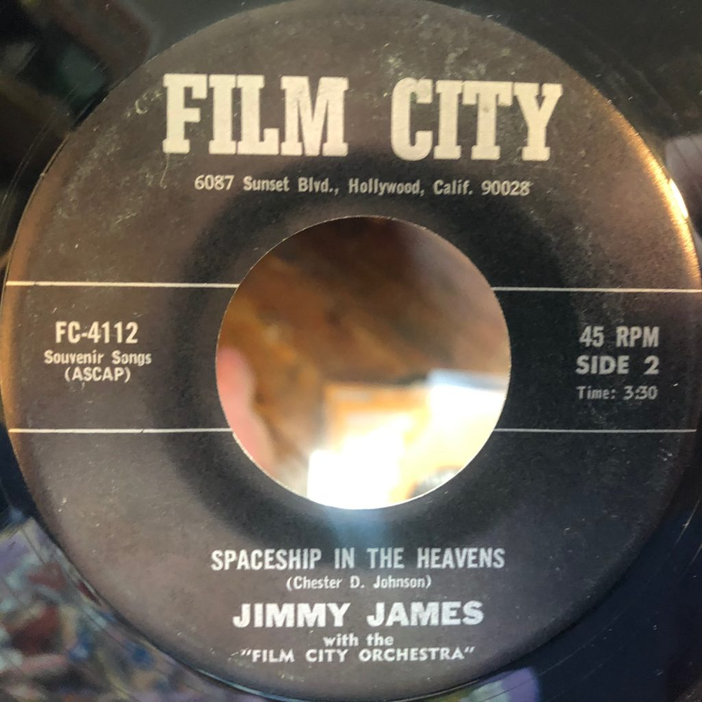 film city 4112 spaceship in the heavens jimmy james 45 rpm song-poem