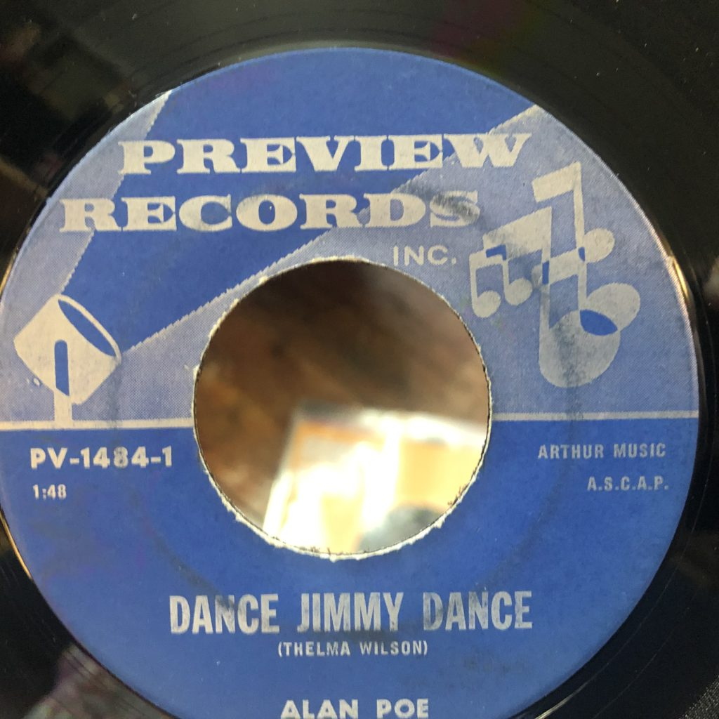 preview 1484 dance jimmy dance alan poe 45 rpm song-poem