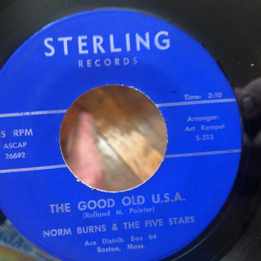 sterling 513 norm burns the good old usa 45 rpm song-poem