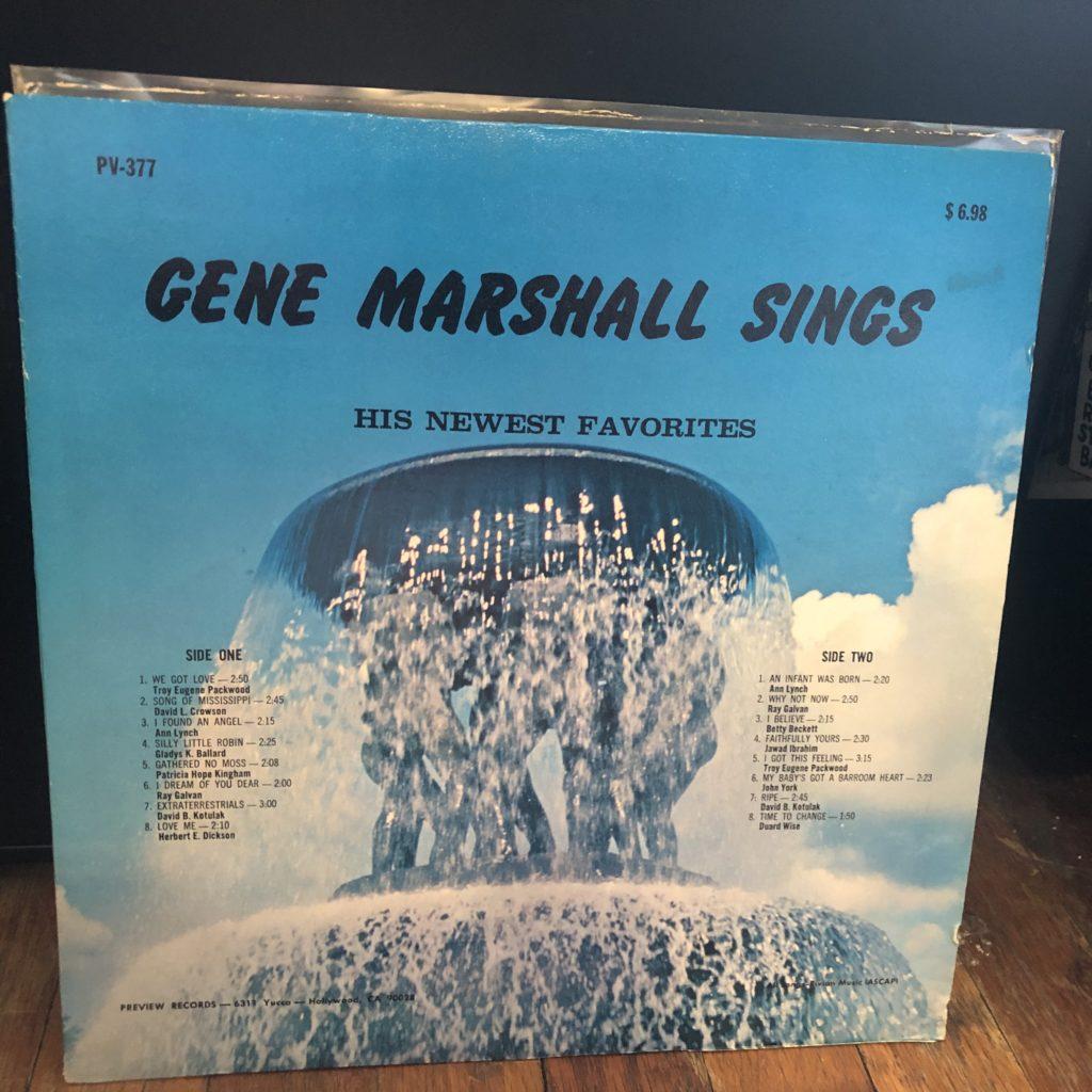 gene marshall sings preview lp song-poem