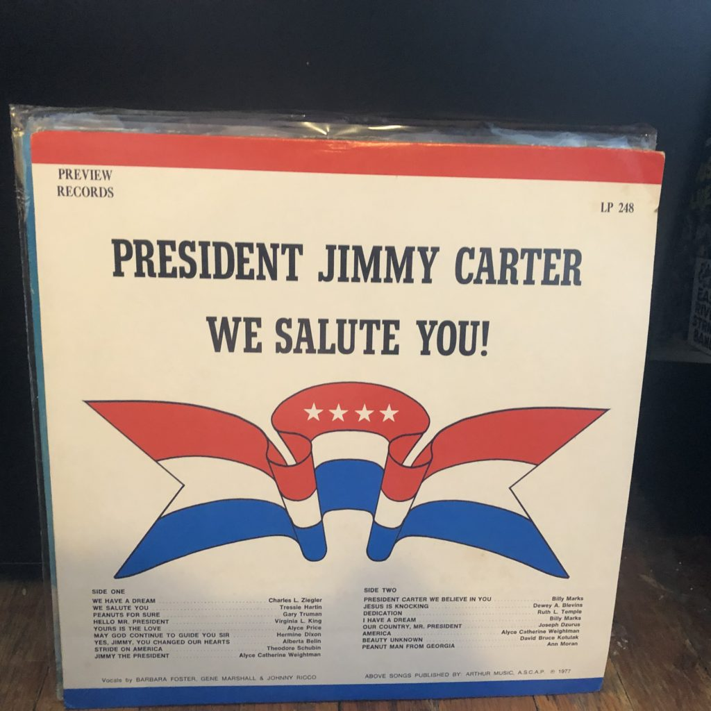 president jimmy carter we salute you preview song-poem lp
