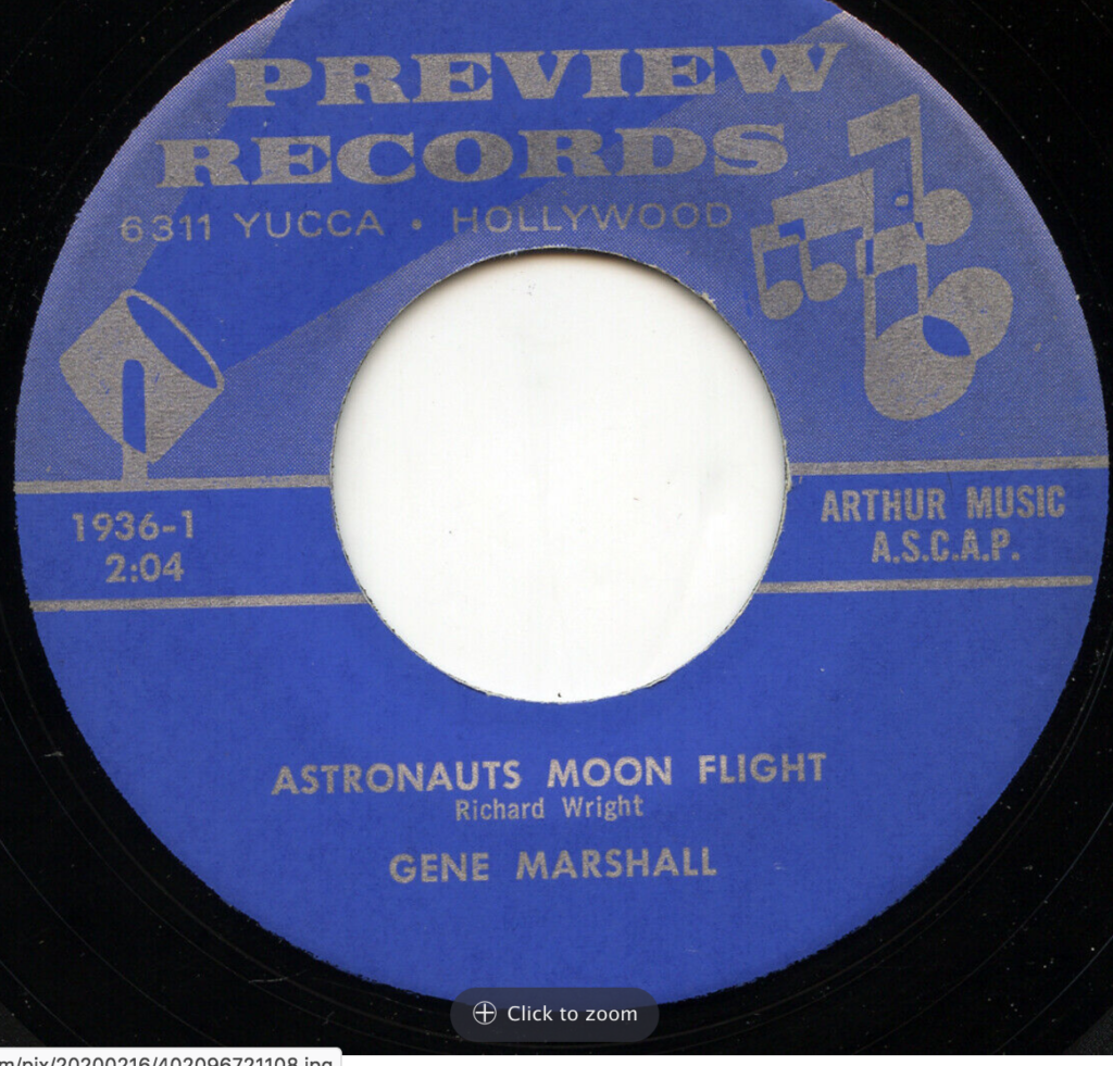 preview 1936 gene marshall moon flight 45 rpm song-poem
