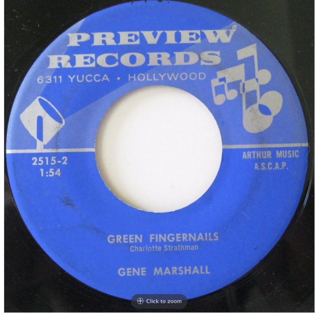 preview 2515 gene marshall green fingernails 45 rpm song-poem