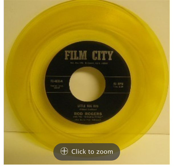 film city 4233 little rug bug rod rogers rodd keith 45 rpm song-poem